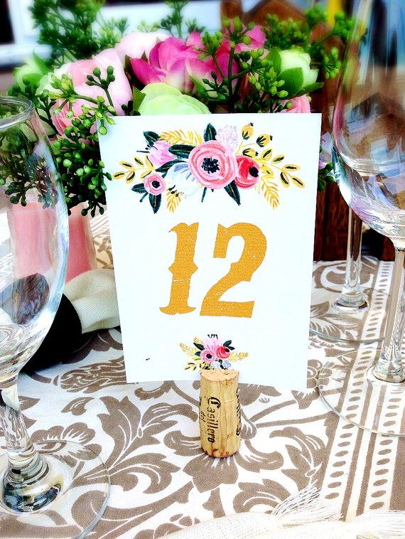 Printable Wedding Table Numbers 1 to 15 Printable by easyprintPD