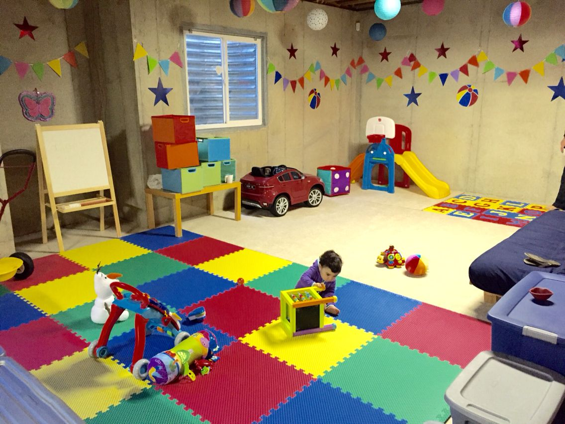 Basement Ideas For Kids My Basement Kids Playroom Unfinished Basement Kids