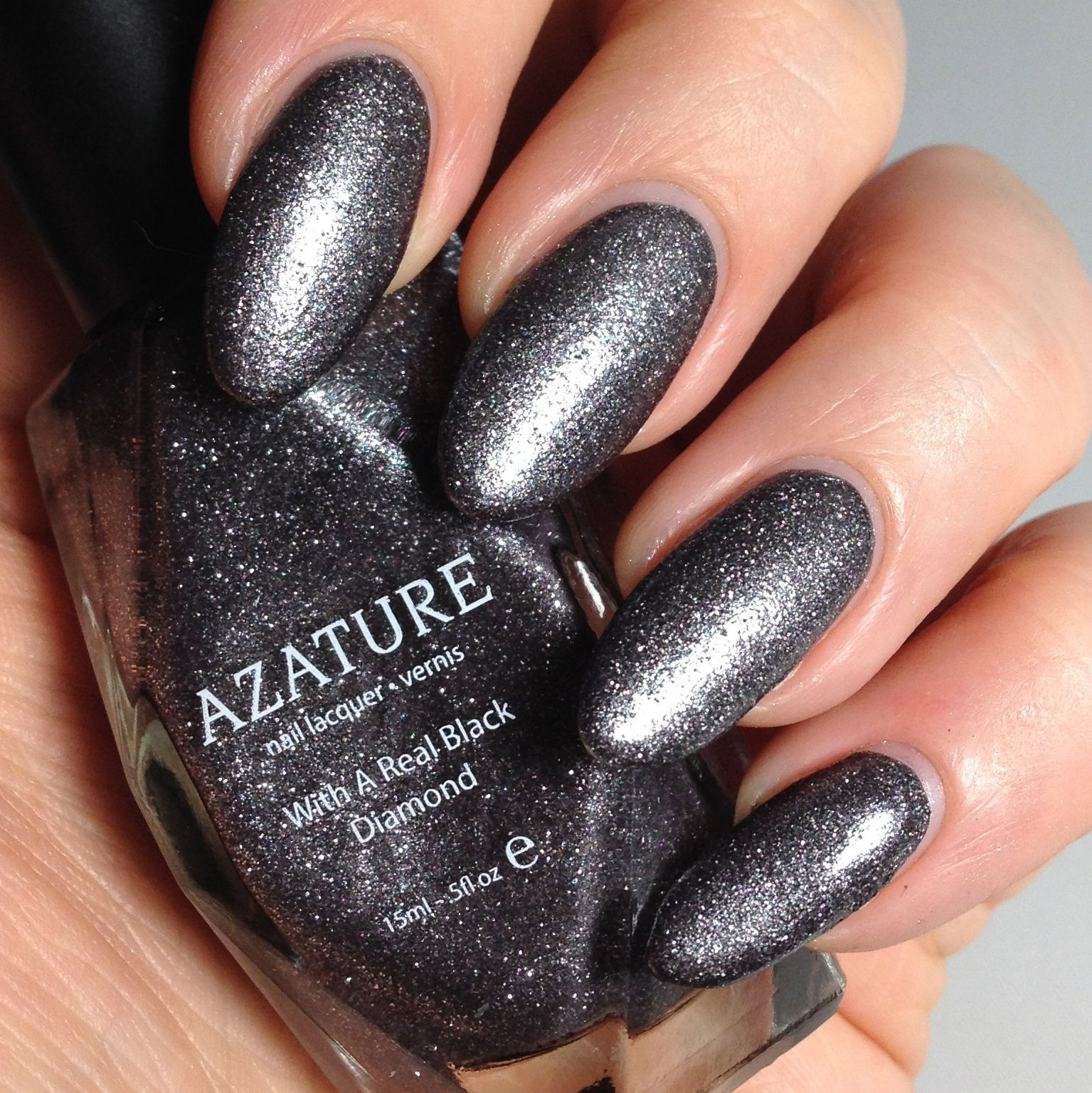 Azature Black Diamond Nail Polish In Platinum The Entire 40 Colour Range Available Uk Exclusively From Houseofrokoko