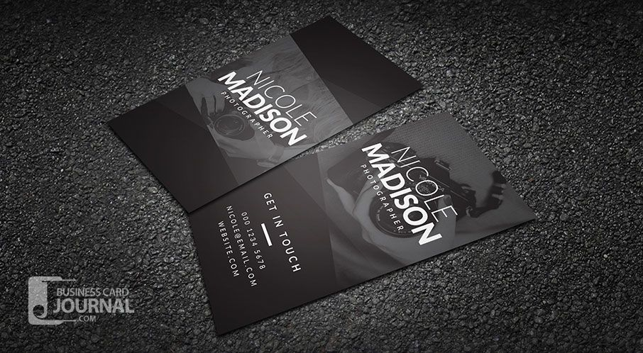 Dark Minimal Typography Business Card Template  Bussiness Card