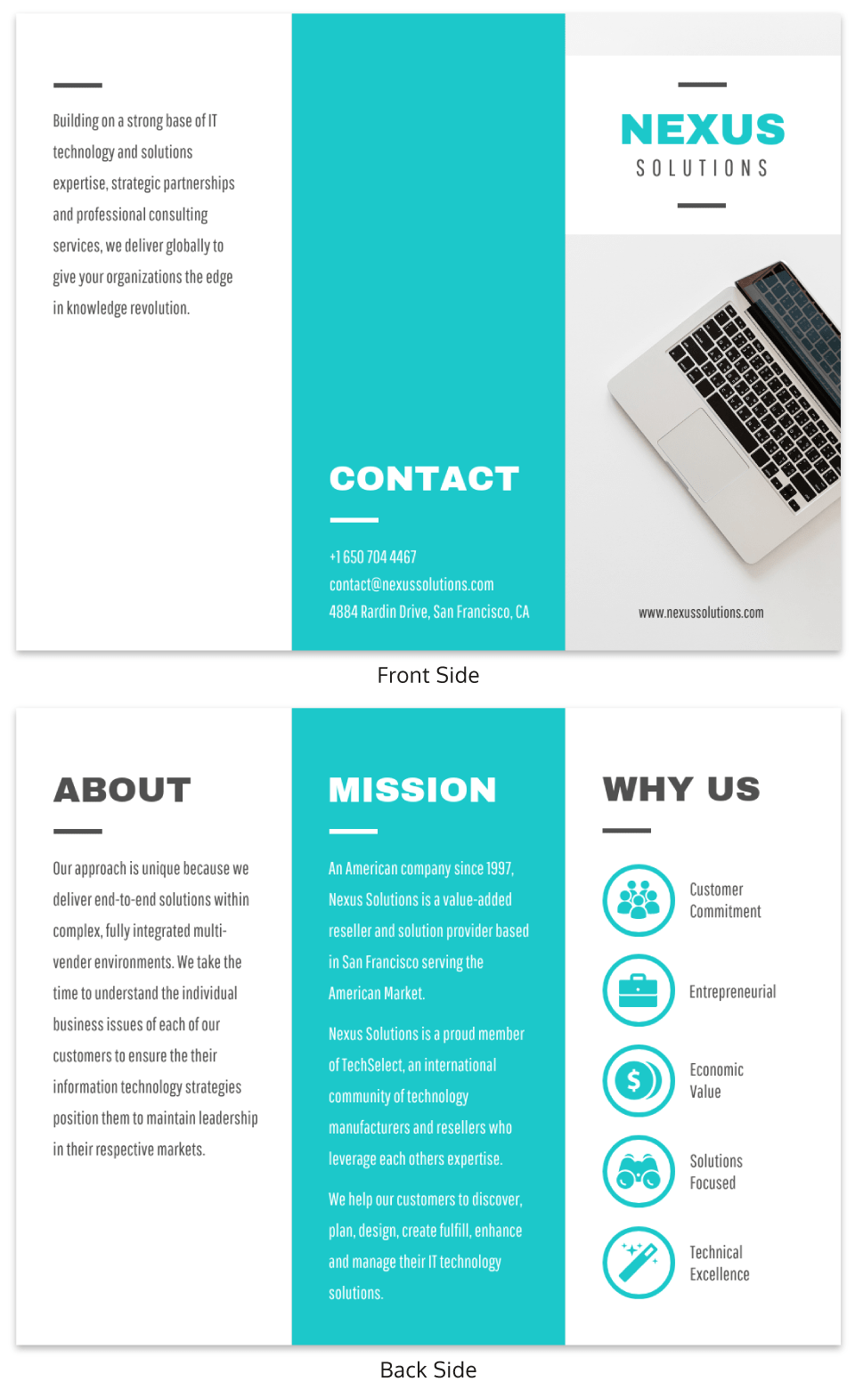 Technology Tri Fold Brochure Template Brochure Examples