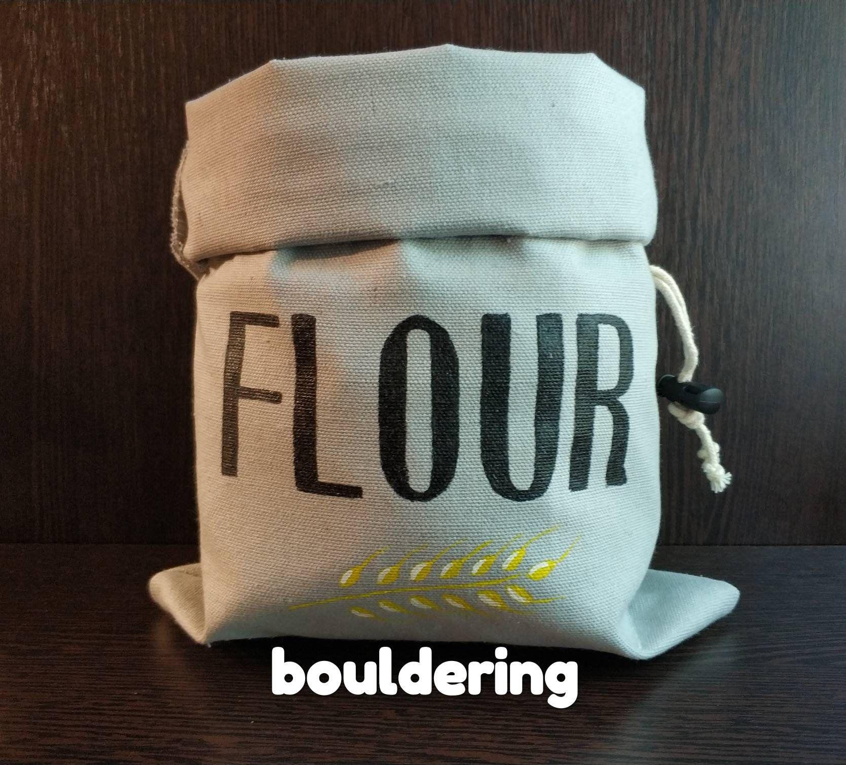 rock climbing chalk bag flour gift for climber bouldering bag funny