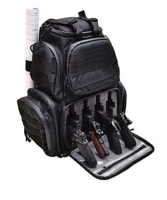Gun Range Backpack Large Army Military Tactical Shooting Bag Pistol with Rainfly #CaseClub