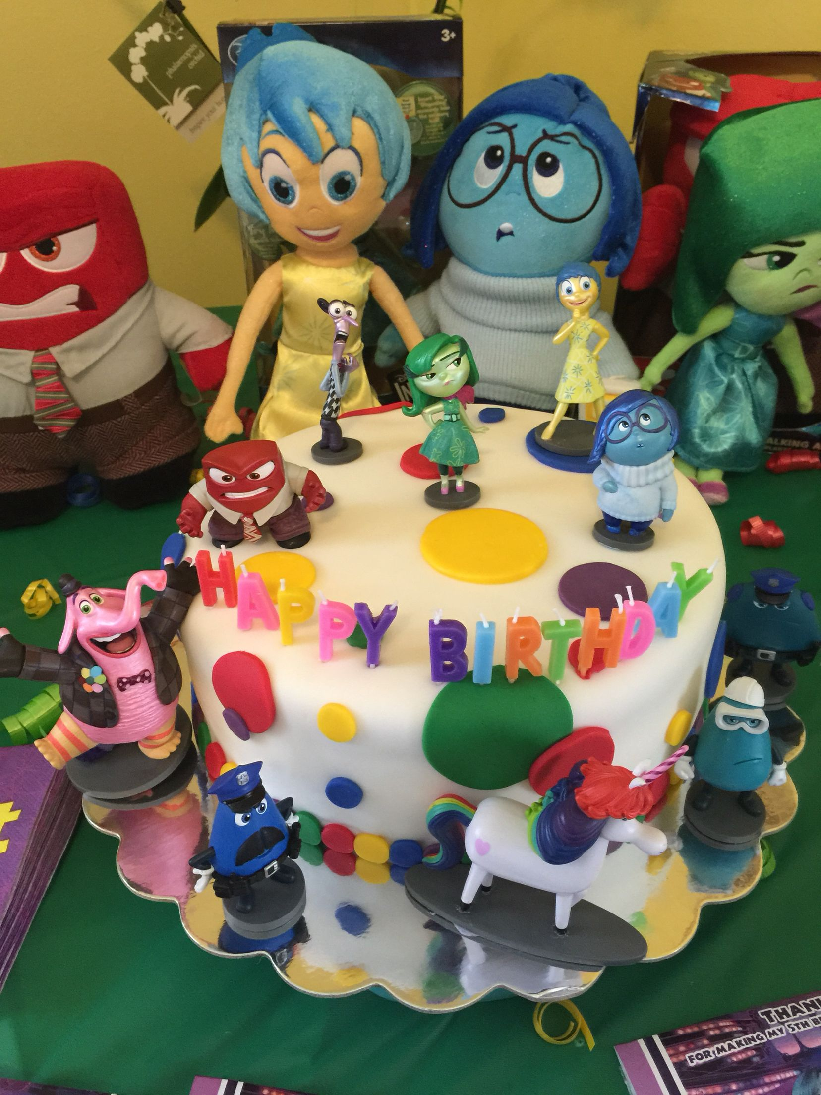 Disneys Inside Out Cake Inside Out Pinterest Disney s Cake