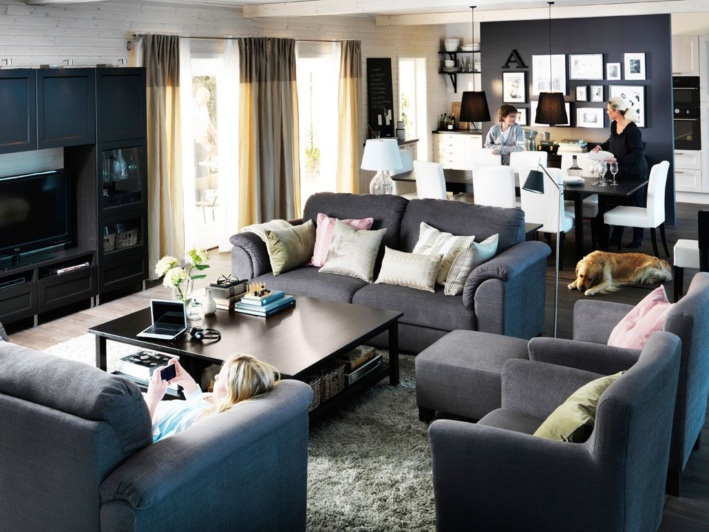 892 The Paradigm Living Room Set Grey: A Living Room For Lounging