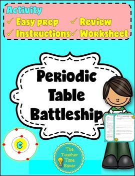 This product has directions on how to set up and play battleship periodic table battleship lab activity handout matter and chemistry unit urtaz Image collections
