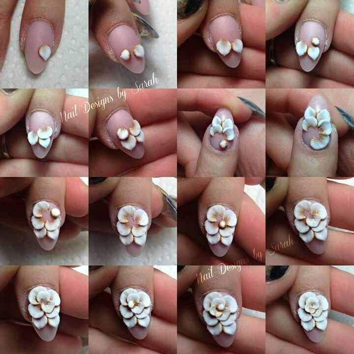 Gel Rose Pictorial Ongles 3d Ongles Fleurs Ongles