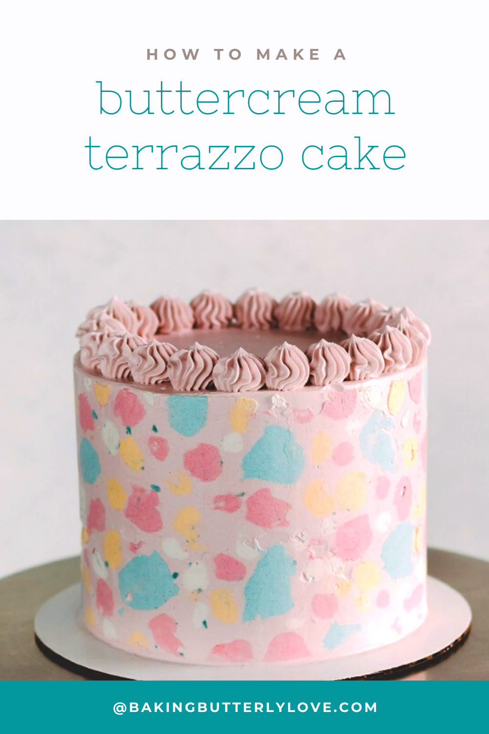 Try out this modern cake decorating idea: buttercream ...
