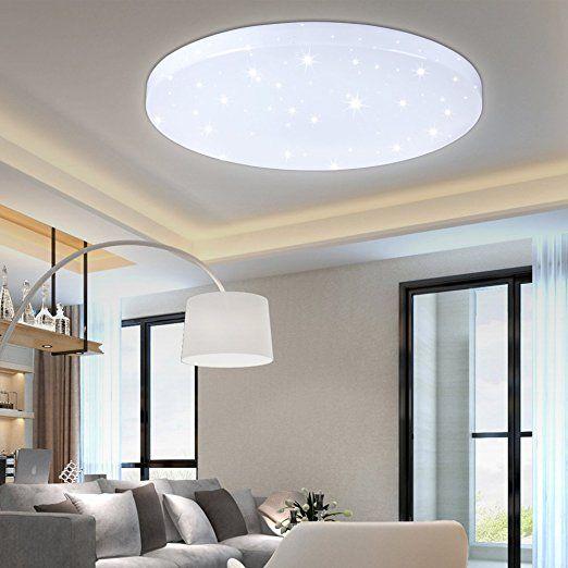 HG® 16W LED Deckenleuchte Deckenlampe Weiß Wandlampe rund - Esszimmer Modern Weiss