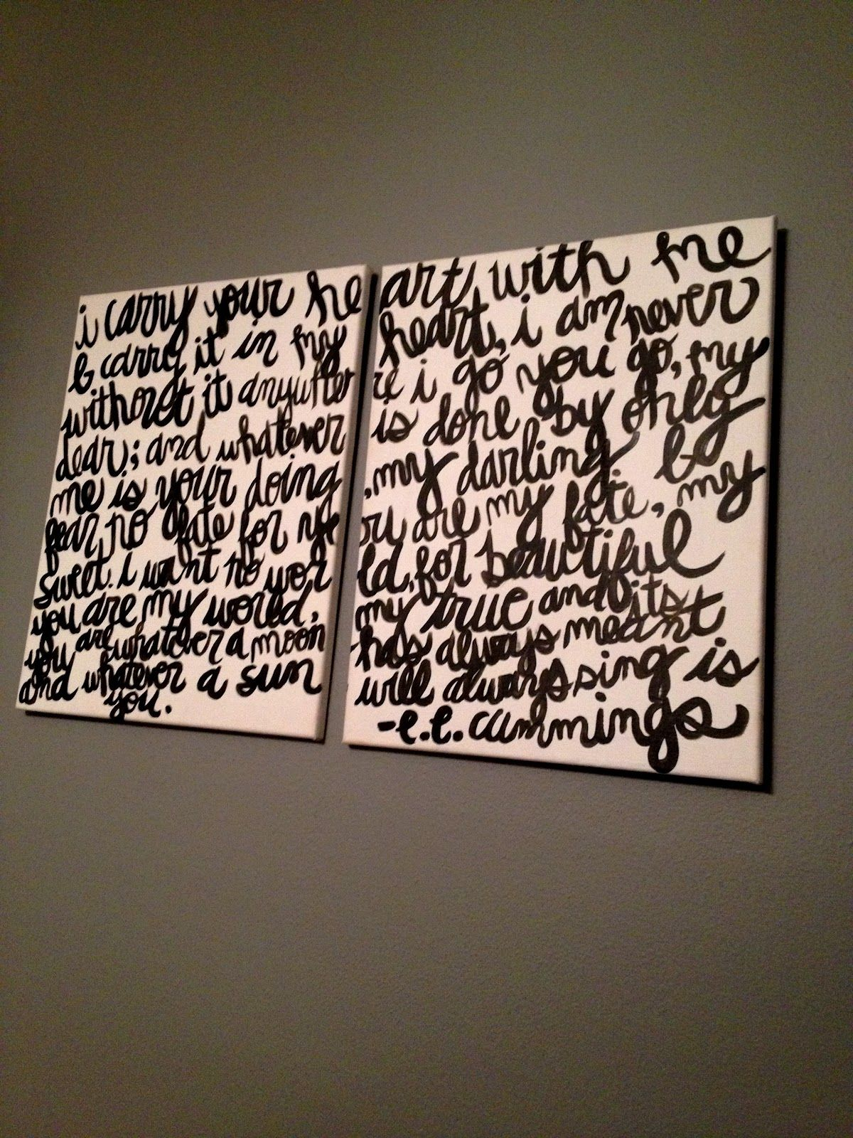 Poem on canvas with instructions: Eternal Sunshine