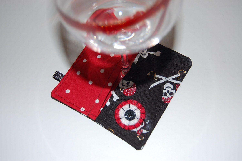 Wine Glass Coasters Coasters Fabric Coaster Wine Glass Slipper Square Coasters Wine Glass Markers Drink C Wine Glass Markers Glass Marker Fabric Coasters