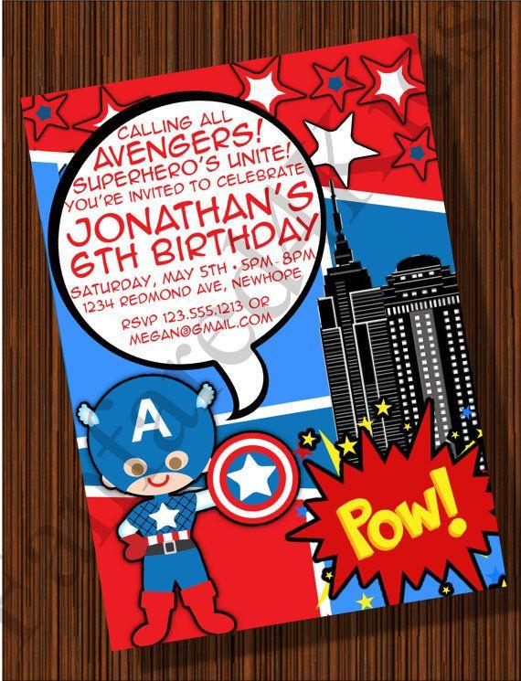 Captain America Avengers Comic Style Boys by fanfare4kids on Etsy, $12.50