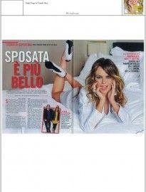 """Paola Perego Italian showgirl on """"Chi Magazine"""", wearing the pump by Nando Muzi Romantique Collection REF.ART. 8110S  -----------------------------------  In un'intervista rilasciata sul Settimanale """"Chi"""" del 19 dicembre, la presentatrice show girl Paola Perego, indossa una decolletè Nando Muzi della Romantique Collection REF.ART. 8110S"""