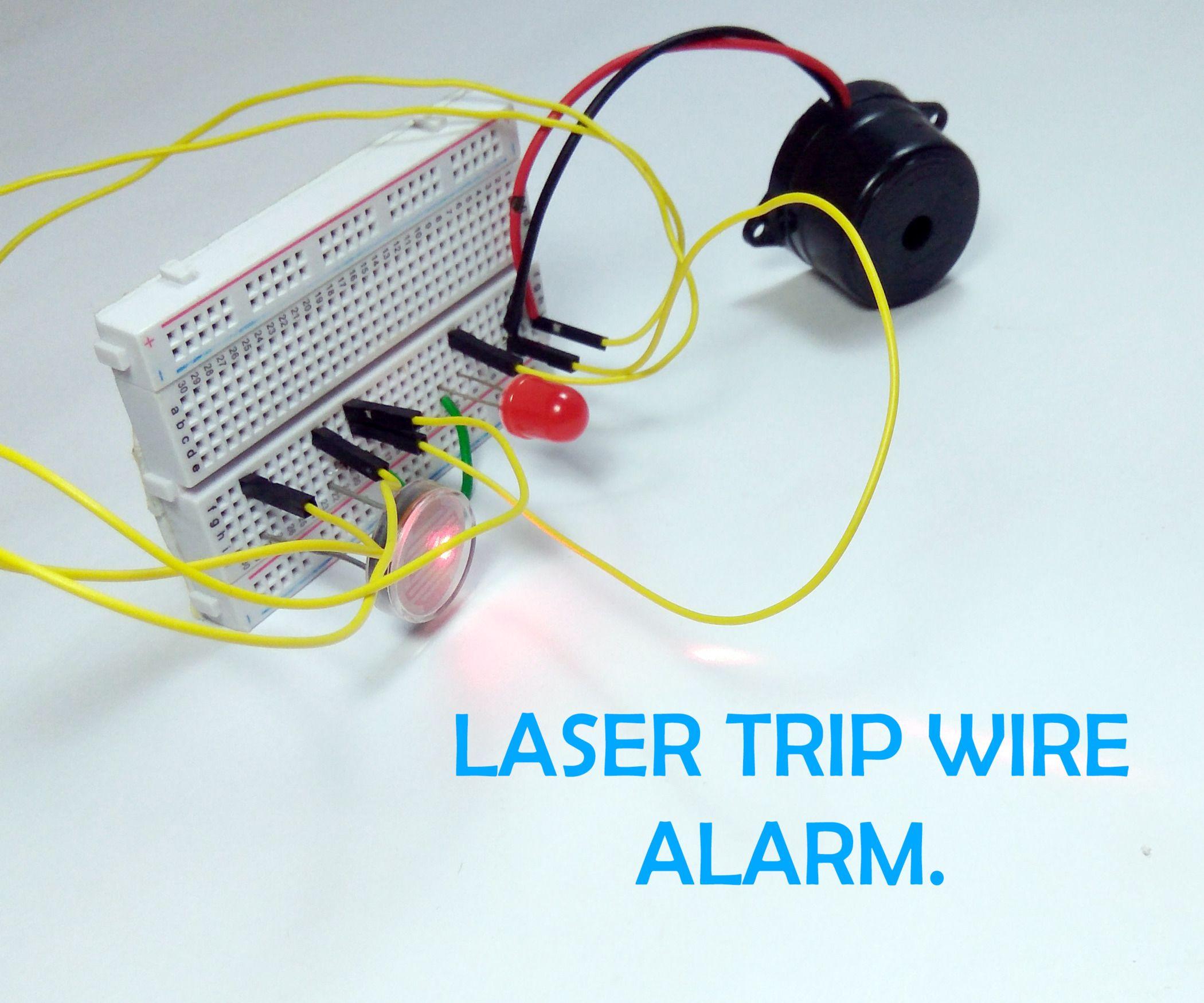 Laser Door Alarm Circuit
