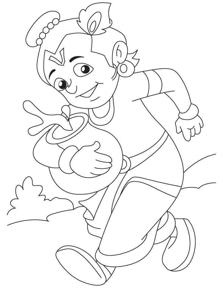 Baby Krishna Images Coloring Pages Taken