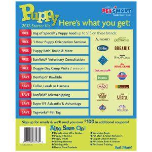 Petsmart Puppy 2013 Starter Kit Petsmart For Gus Pinterest