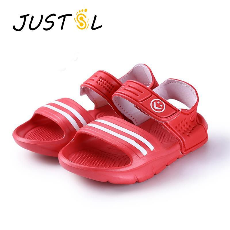 6f65a80761fb Nice JUSTSL 2016 summer fashion casual non-slip resistant convenient shoes  for kids 9 colors boys girls beach sandals size 24-29 -   - Buy it Now!