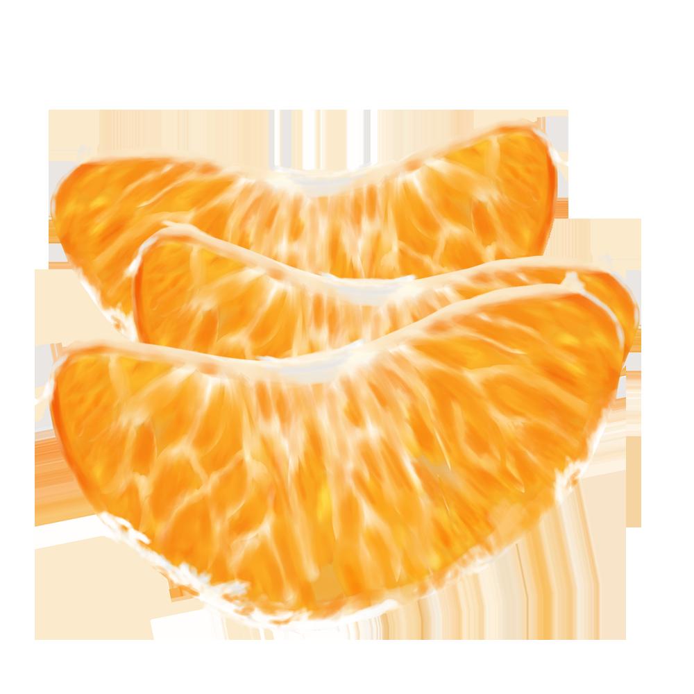 リアルなみかんの味3つのイラスト みかん 果物 フルーツ イラスト