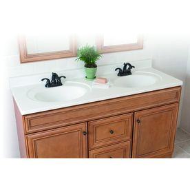 209 Lowes Style Selections 61 In W X 22 In D Vanity White Cultured Marble Vani Cultured Marble Vanity Top Single Sink Bathroom Vanity Bathroom Vanity Tops 61 vanity top single sink