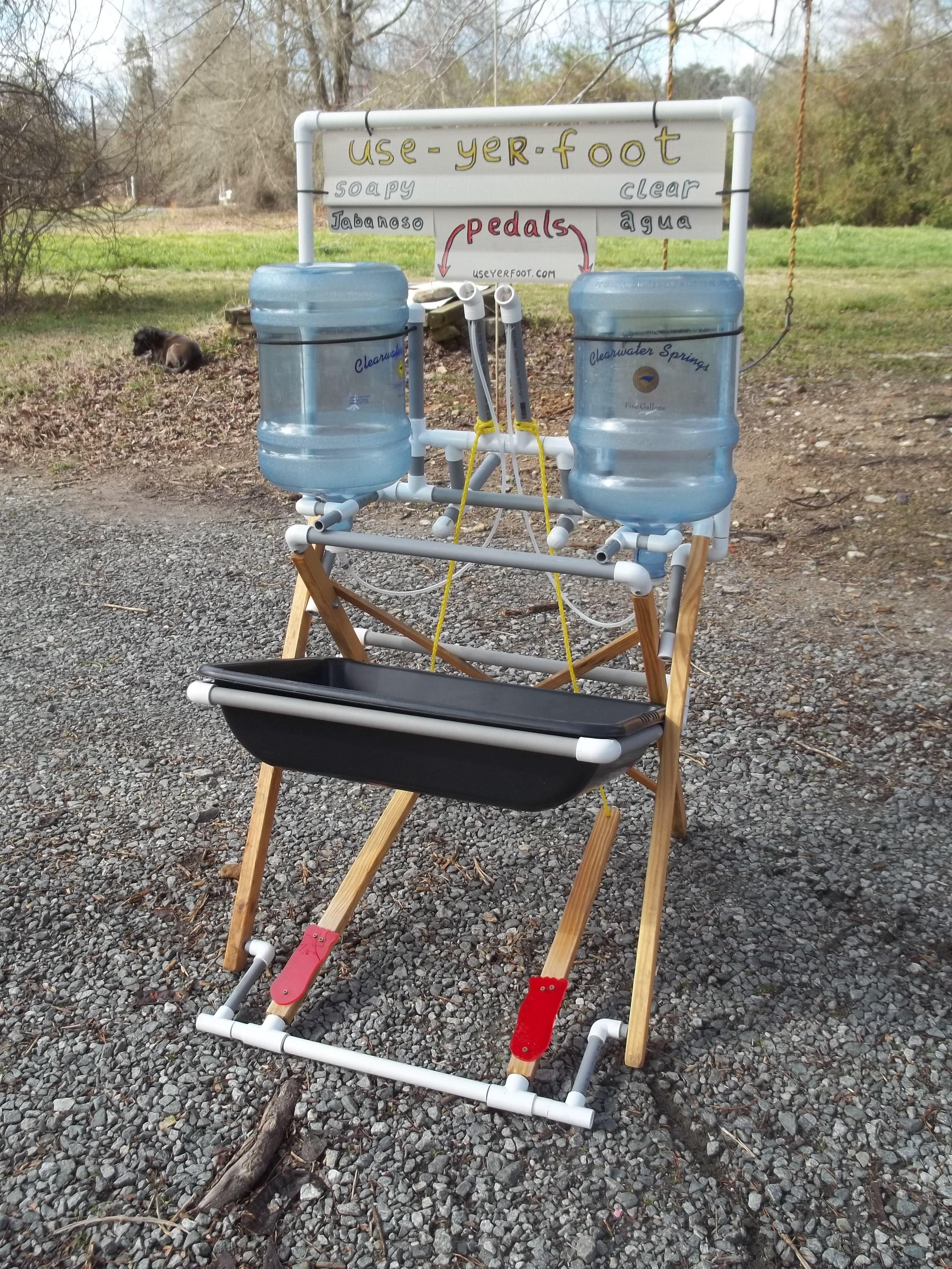 Saxapahaw Farm Created Hand Washing Station Camping Bathroom Hand Washing Station Camping Wash Station