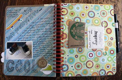 Make your own smash books - make for the girls for summer scrapbooks - this page has some good ideas for writing prompts, etc.