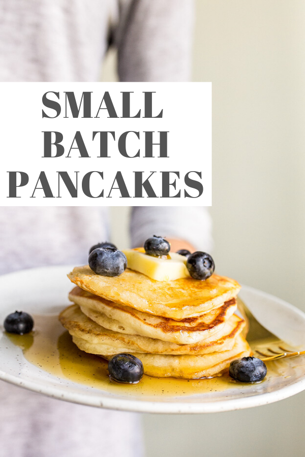Small Batch Pancakes For Two In 2020 Pancakes For One Pancakes For Two Two Pancake Recipe