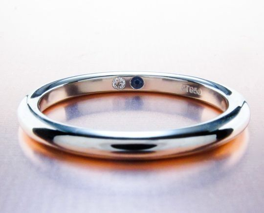 Anyone Have Suprise Stones Inside Your Wedding Bands Show Me The Bling Rings Earrings Jewelry Birthstone Wedding Band Wedding Ring Bands Wedding Inside