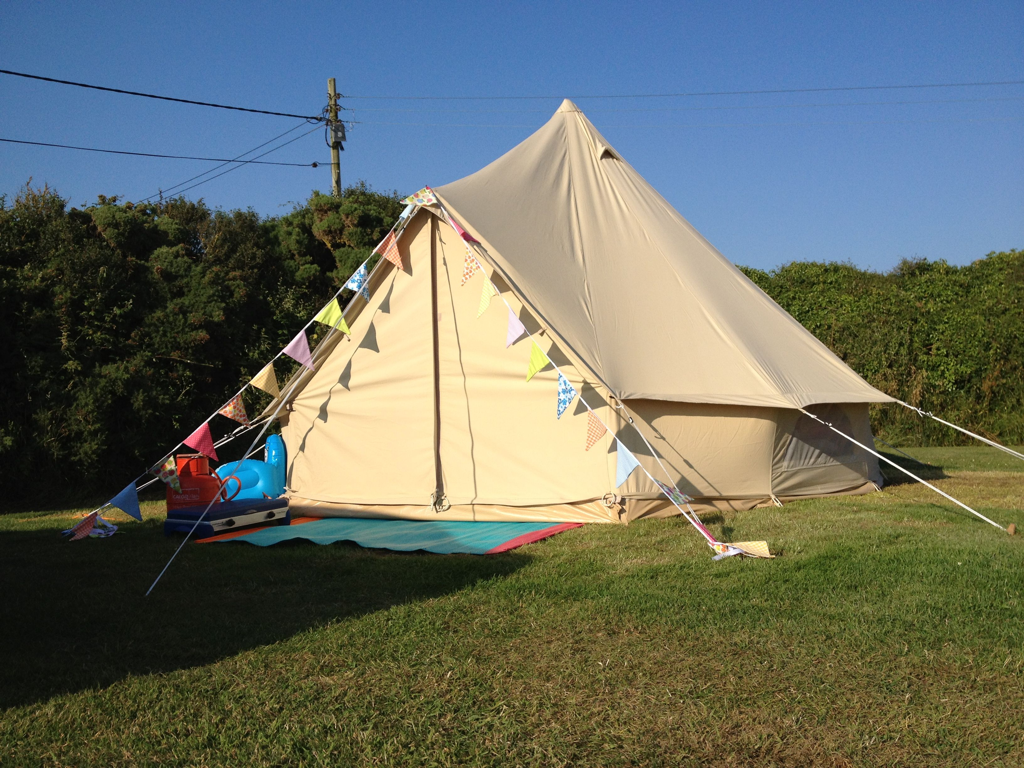 4m Baker u0026 Bell Bell Tent....with home made bunting ) & 4m Baker u0026 Bell Bell Tent....with home made bunting :) #glamping ...