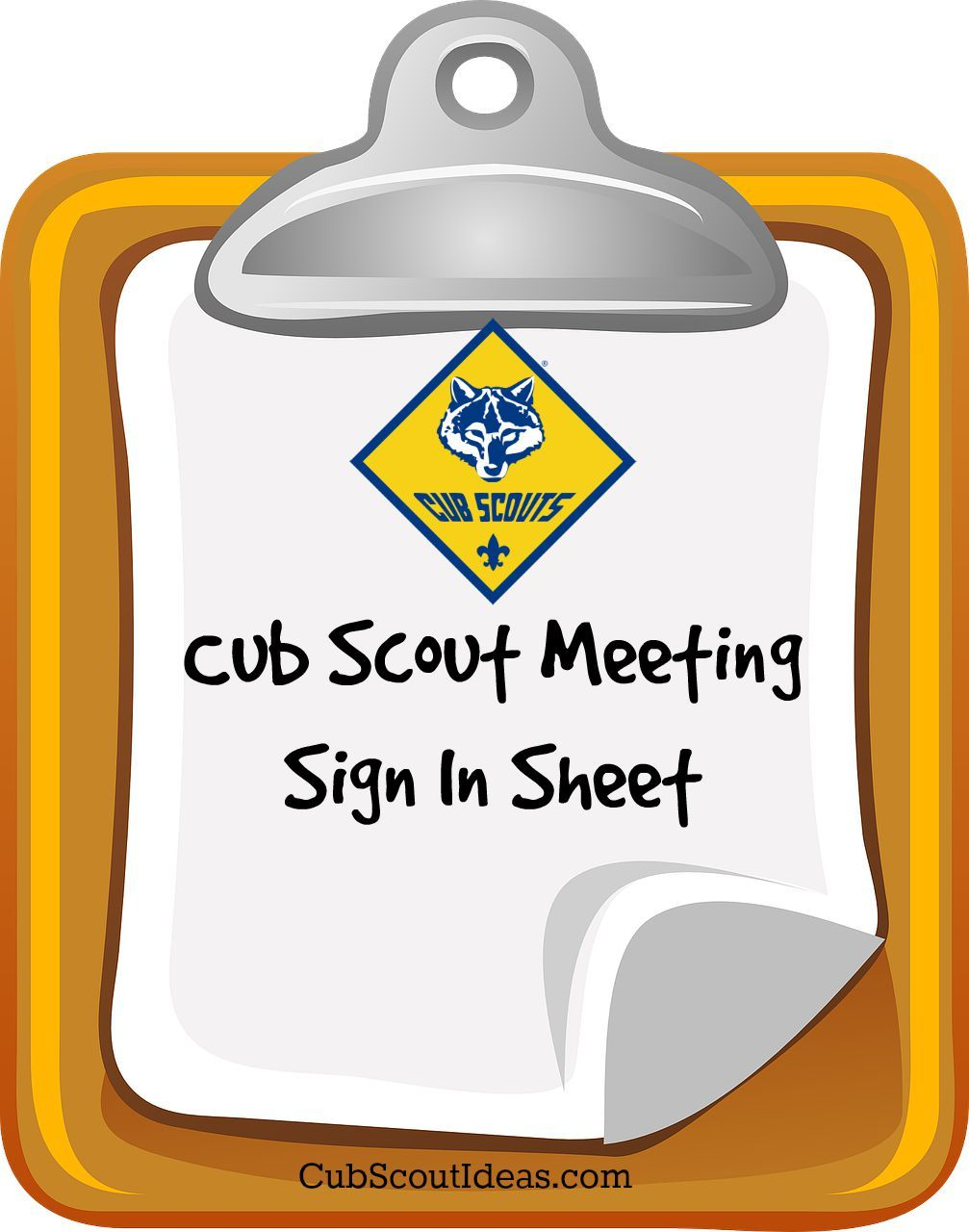 attendance sheet for cub scouts cub scouts pinterest cub