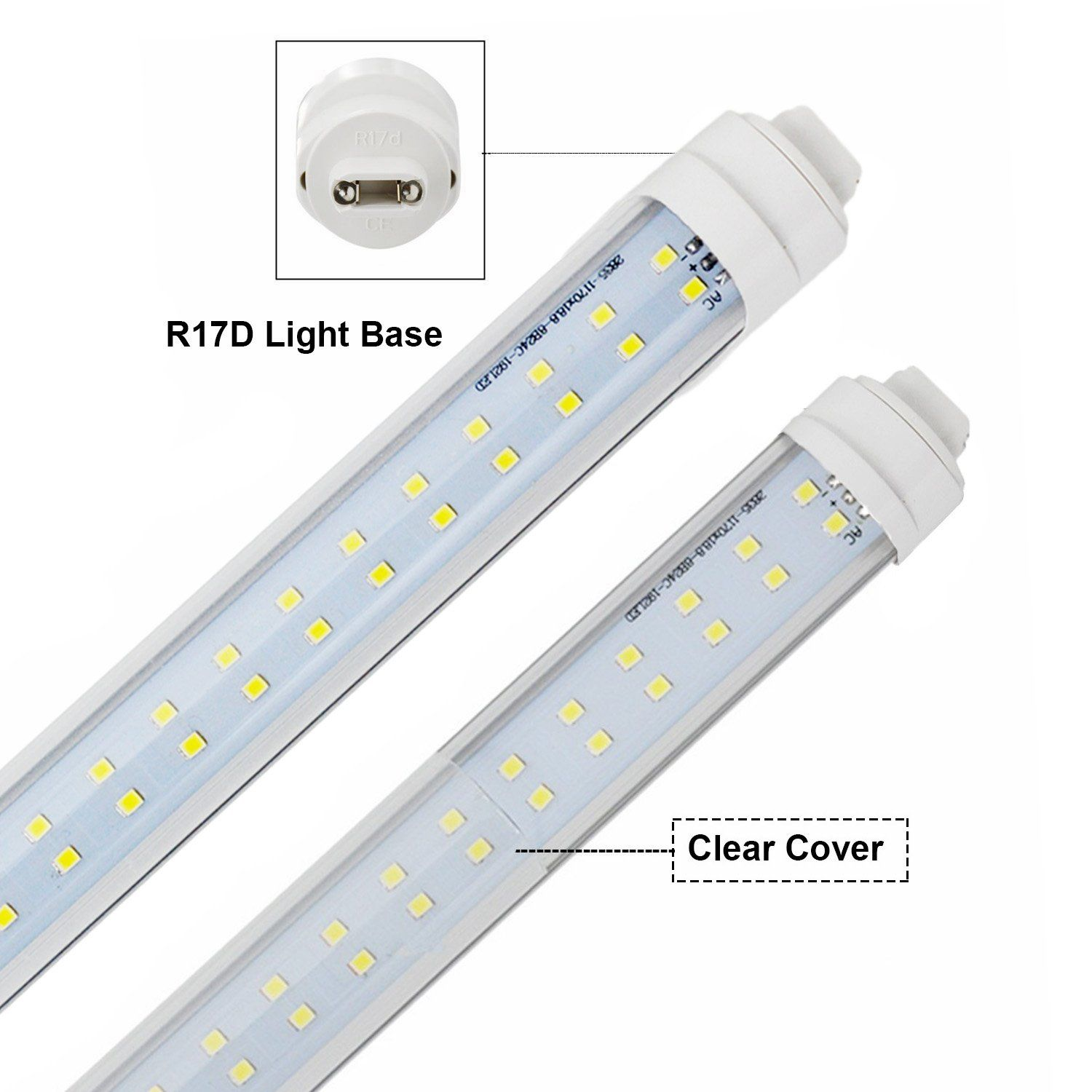 JESLED T8/T10/T12 R17D/HO 8FT LED Tube Light 72W 7200LM