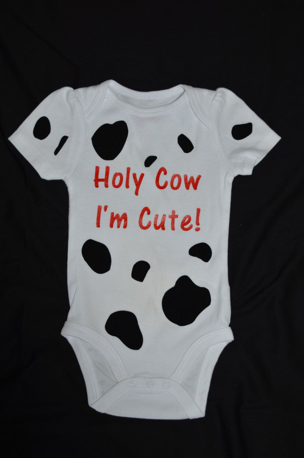 61275210d Holy Cow, I'm Cute! Infant Onesie by ZudZagInnovations on Etsy https: