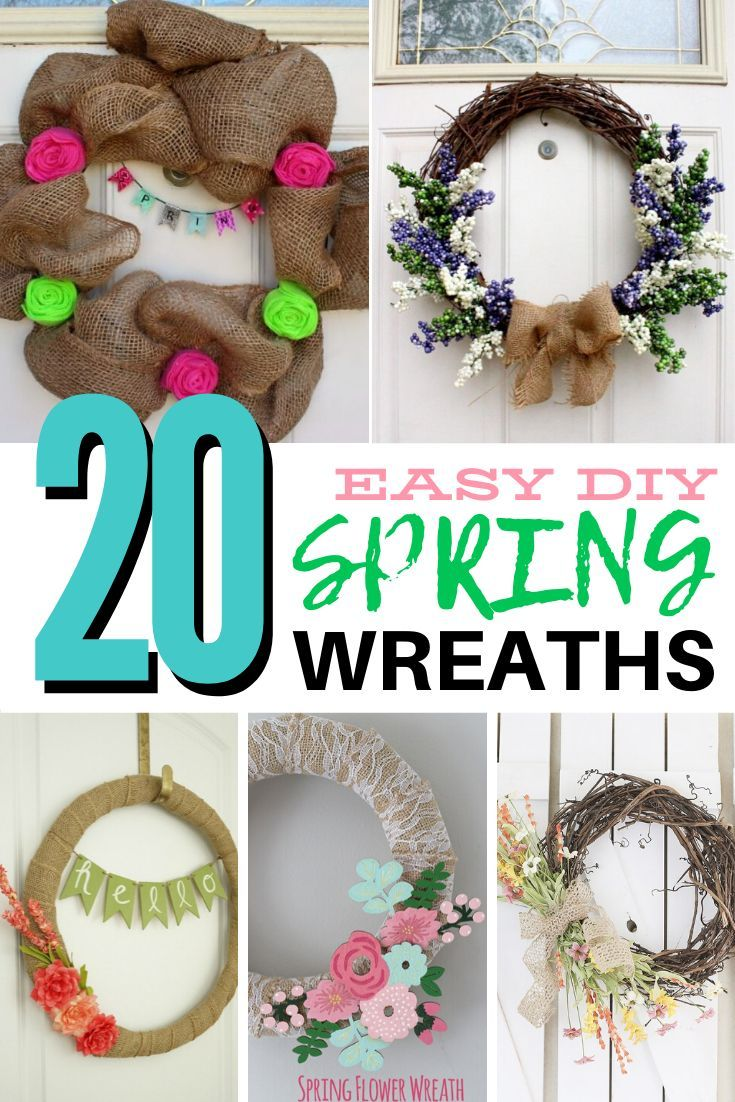 Photo of 18 Easy to Make Spring Wreaths
