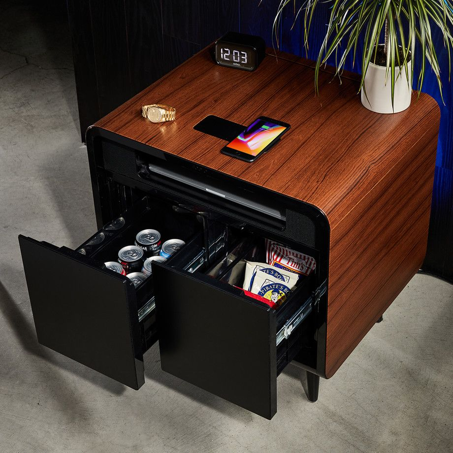 Sobro Smart Refrigerator Tables Touch Of Modern Smart Refrigerator Modern Table Black Side Table [ 920 x 920 Pixel ]