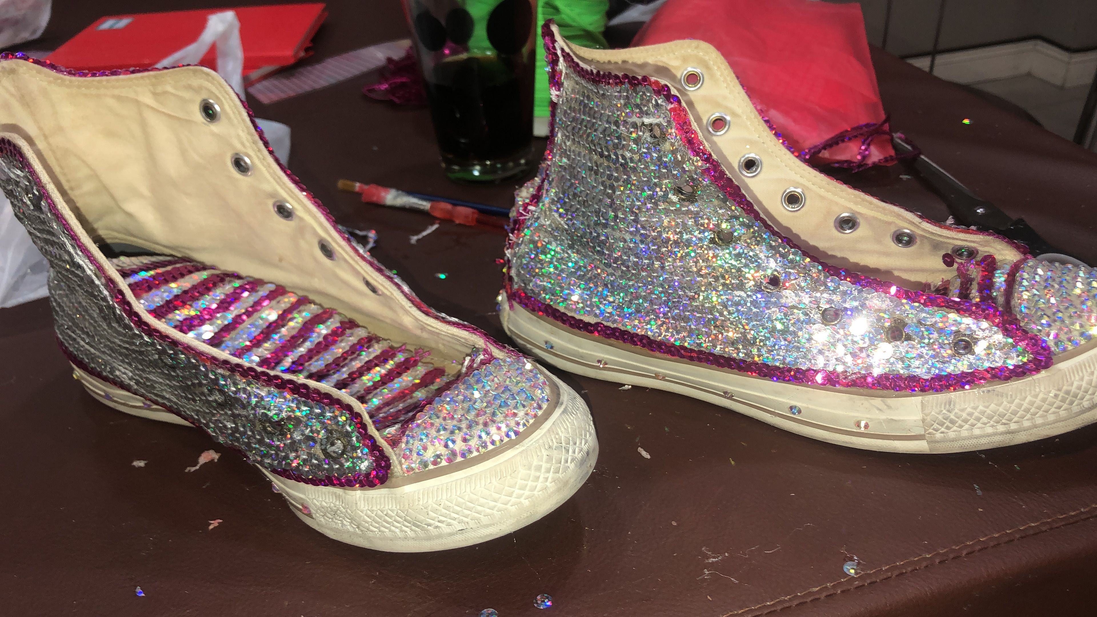 zapatillas con lentejuelas