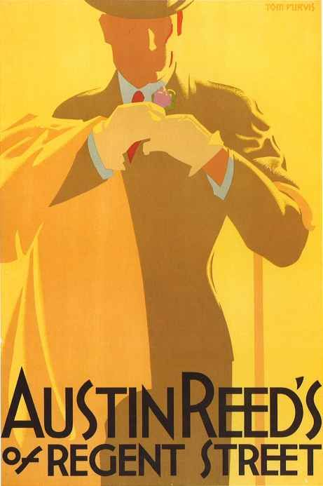 Austin Reed S London By Tom Purvis Ca 1935 Art Deco Posters Austin Reed Vintage Posters