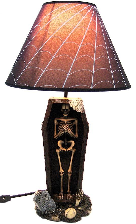 creepy coffin shaped skeleton table lamp with shade shop creepy coffin shaped skeleton table lamp with shade shop vampire rave aloadofball Choice Image