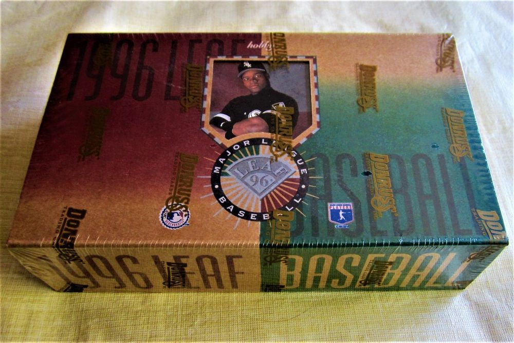 1996 leaf baseball box gold stars press proofs