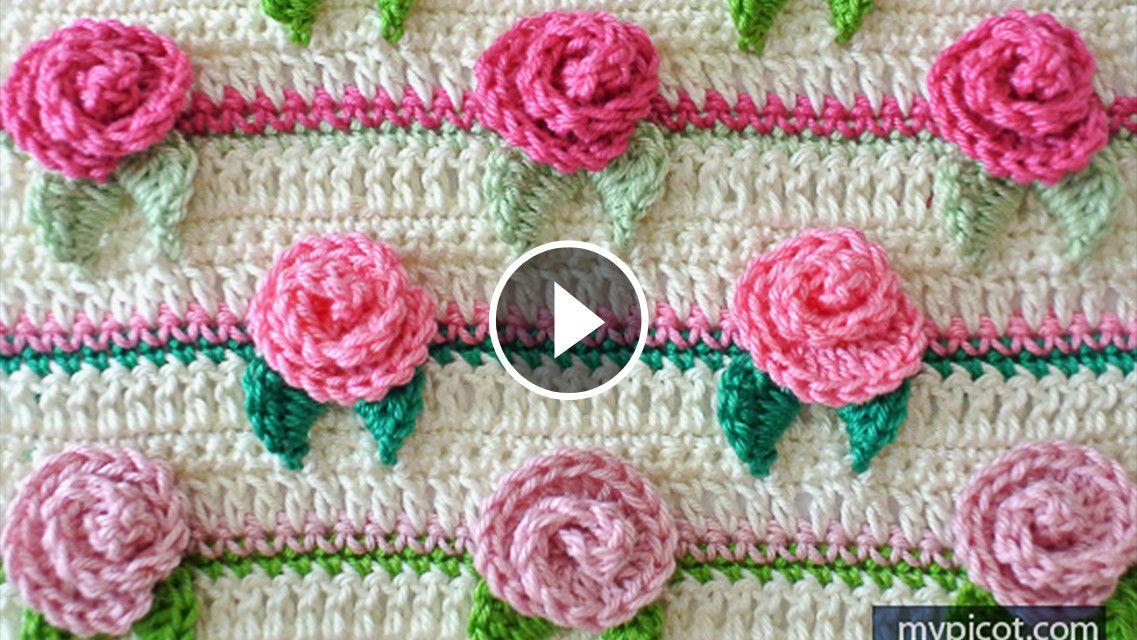 Pretty Rose Flower Stitch Crochet Pattern | CrochetBeja