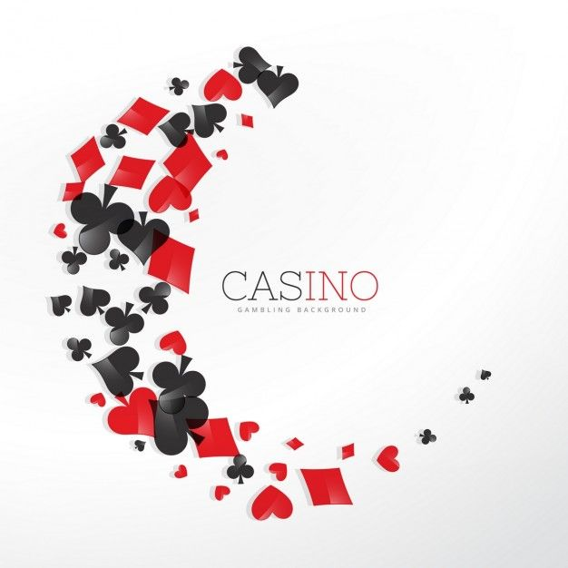 Wave made of casino elements background Free Vector