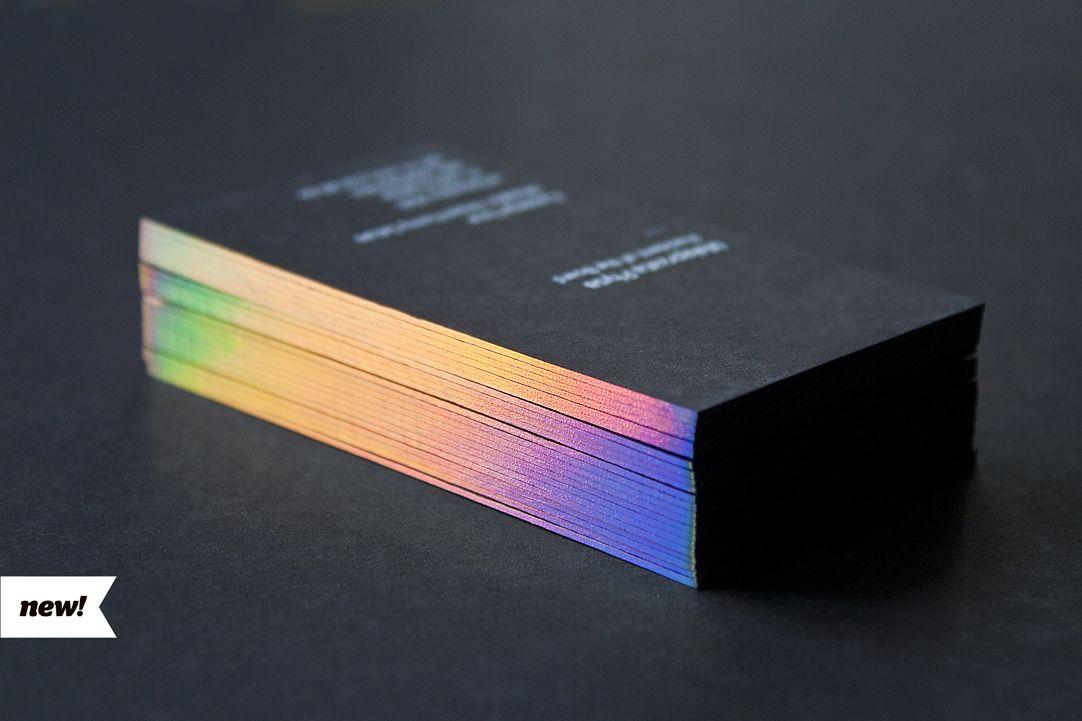 Business cards with hologram foil edges | Business Card Designs ...