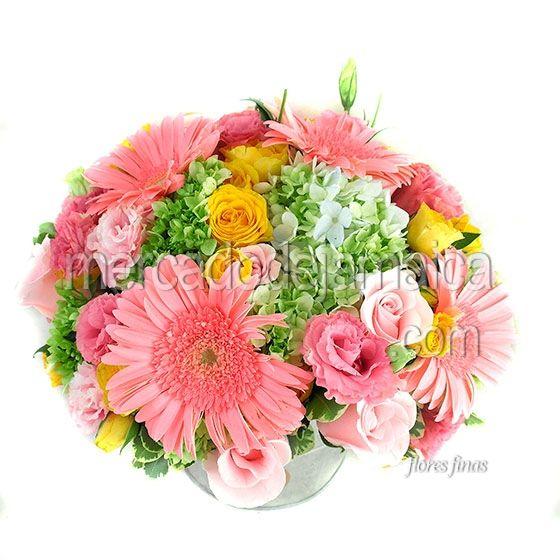 Arreglo Pink Rosas con Hortensias !| Envia Flores