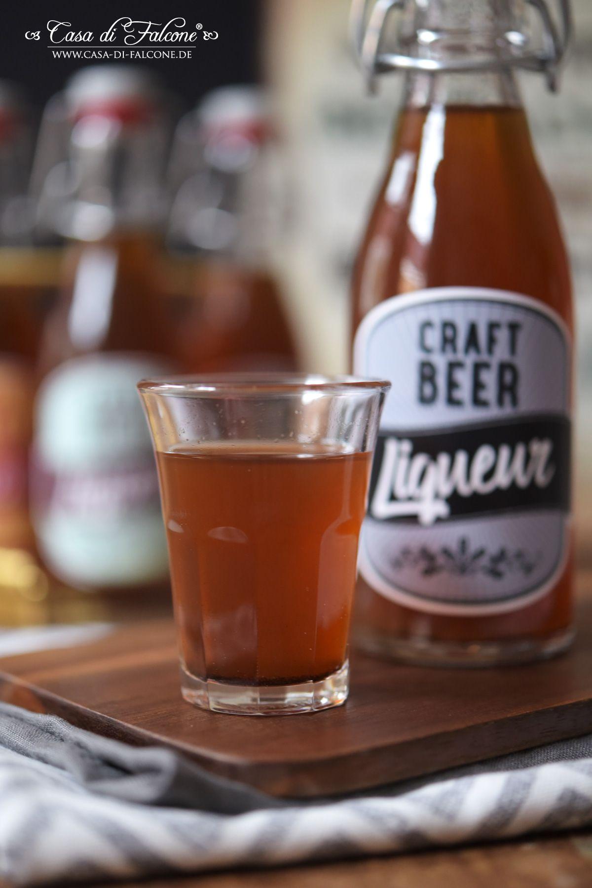 Bierlikör aus Craft Beer {Rezept} und Flaschenetiketten   Liköre ...