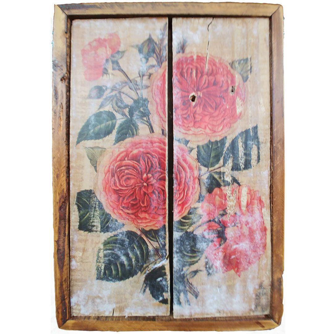 Floral assorted old wood wall art echo u benus creations