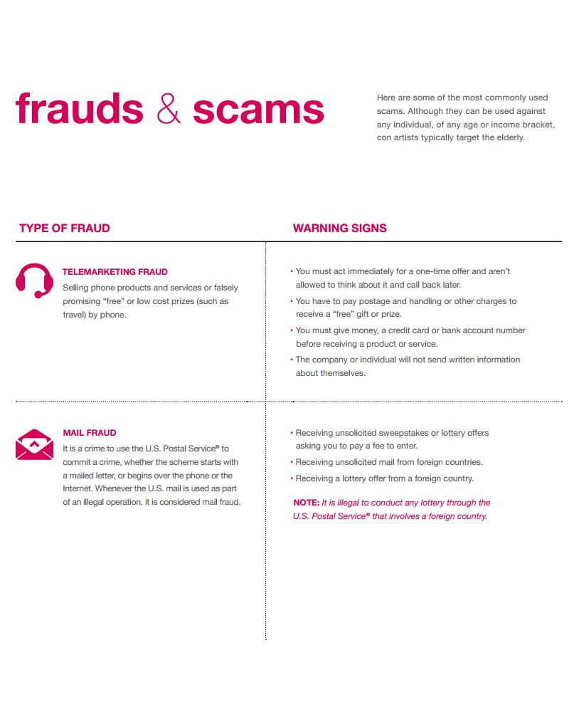 Here are some of the most commonly used scams although