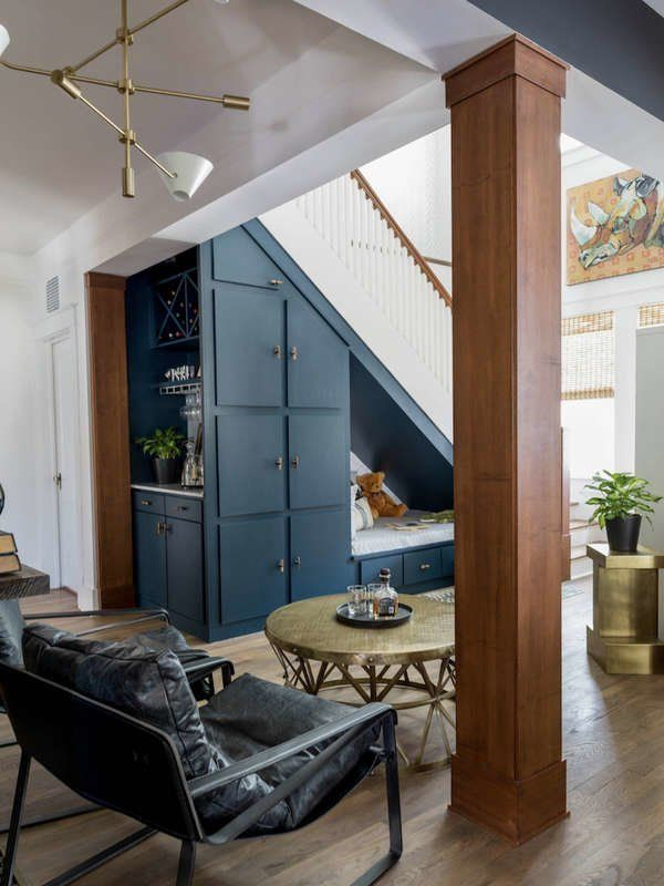 17 Clever Uses for the Space Under the Stairs