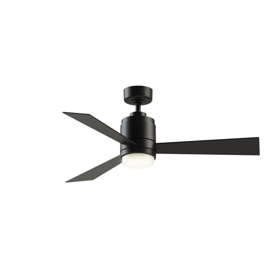 f4cb958f3f9 Fanimation Studio Collection All-Weather Pylon 48-in Matte Black LED Indoor  Outdoor Downrod Mount Ceiling Fan with Light Kit and Remote (3-Blade)