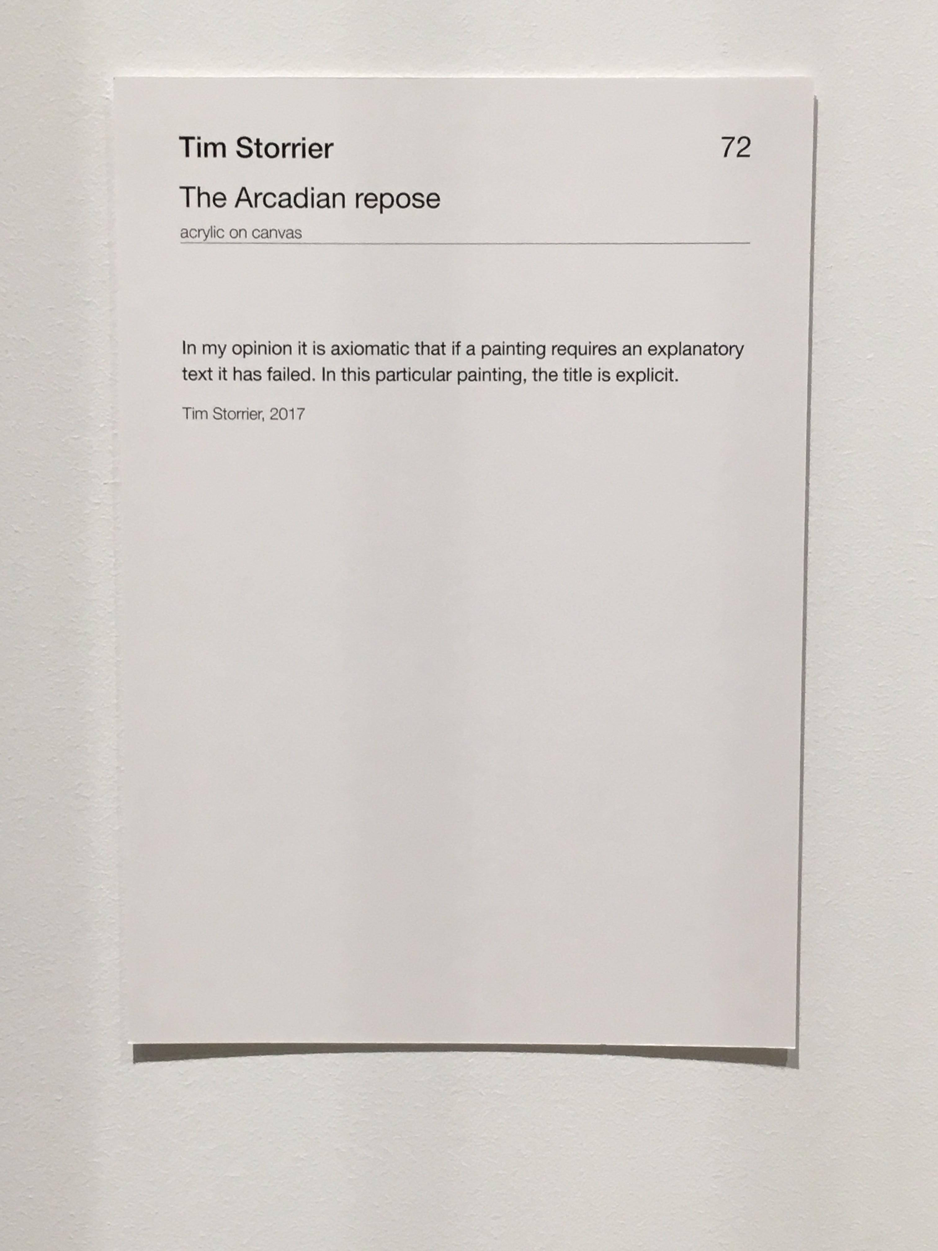 Insightful Label In An Art Gallery Art Gallery Labels Gallery