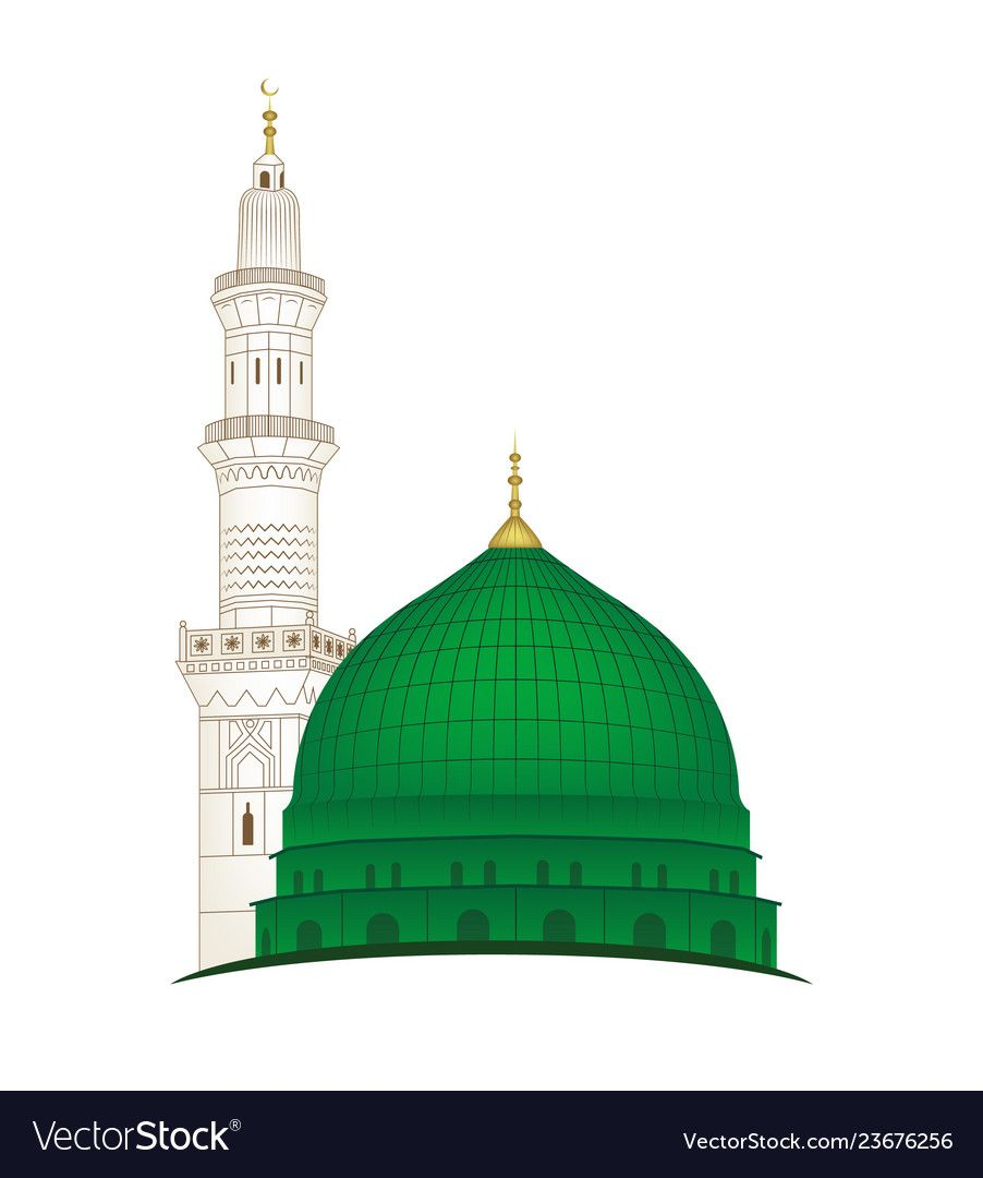Gumbad E Khazra Vector Image On Masjid Islamic Caligraphy