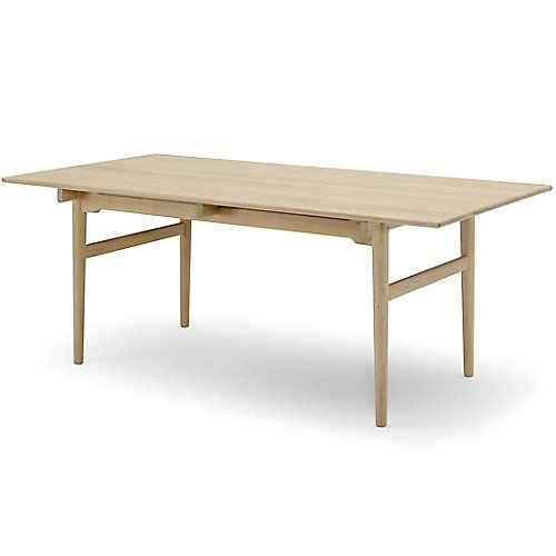 Ch327 Dining Table With Two Leaves By Carl Hansen At Lumens Com