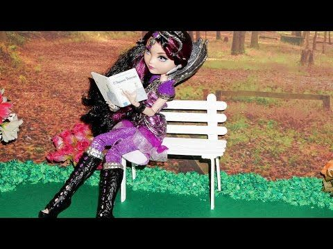 How to make a Park Bench for doll (Monster High, EAH, Barbie, etc) - YouTube